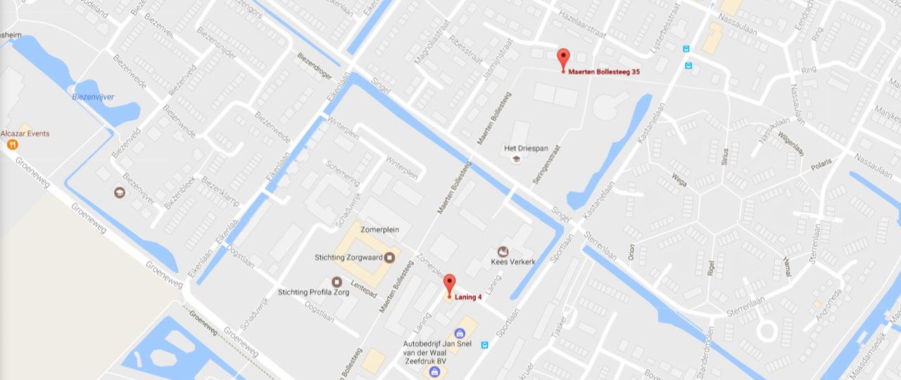 Bereikbaarheid locatie PMC Papendrecht